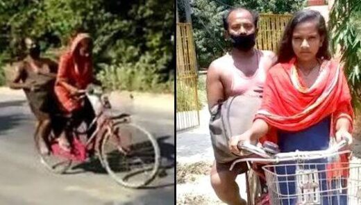 Girl who cycled 1200 kms carrying her Father - The Wall Post