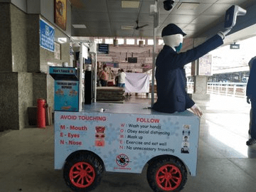 Pune Railway Protection Force Launched a Robot called 'Captain Arjun' - The Wall Post