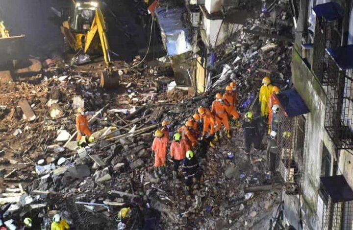 6 dead, several injured in building collapse in Mumbai, search operation still in process - The Wall Post