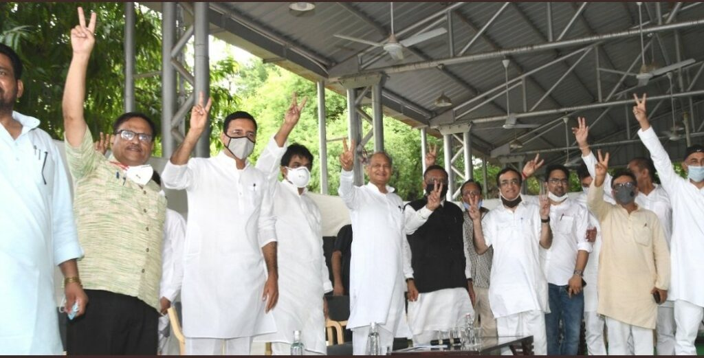 CM Gehlot and other congress leaders to move to resort in a bus - The Wall Post