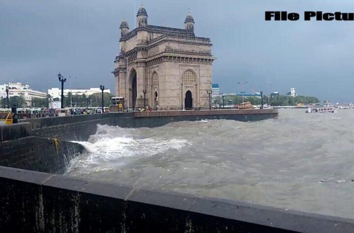 Maharashtra High tides hit Marine Drive in Mumbai, heavy rain alert today - The Wall Post