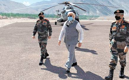 PM Narendra Modi visits Leh, interacts with Army, Air force and ITBP - The Wall Post