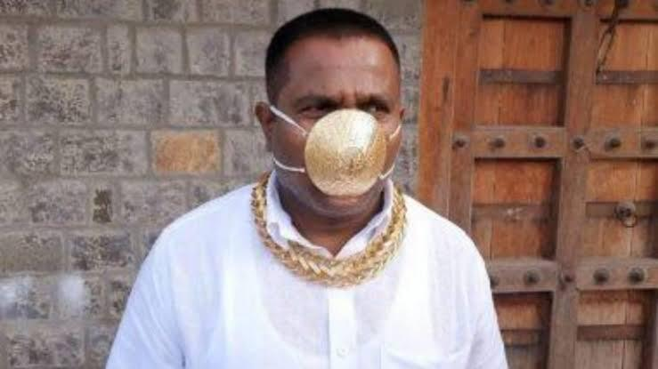 The man with a Gold Mask in Pimpri Chinchwad - The Wall Post