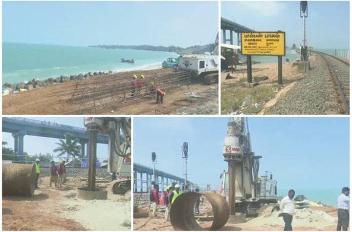 Tamil Nadu: Indian Railways begin construction of bridge at Pamban Sea - The Wall Post