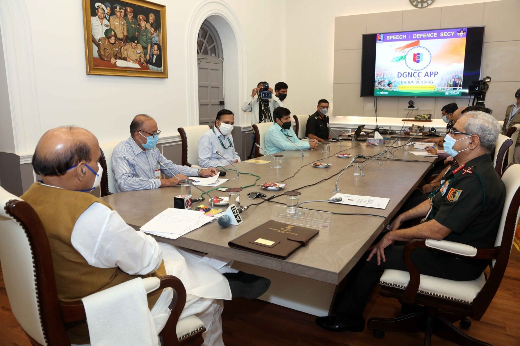 Rajnath Singh Launches Mobile training app for NCC cadets - The Wall Post