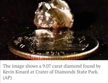 A man picks Shiny object thinking it is glass, turns out to be 9 carat Diamond - The Wall Post