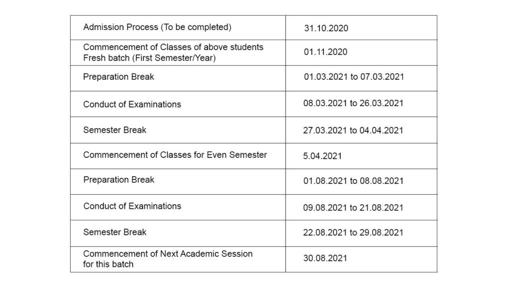UGC directs Universities to Commence classes from Nov 1st - Timetable - The Wall Post