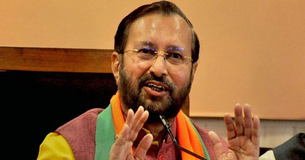 """India is """"Not Responsible"""" for Climate Change: Javdekar - The Wall Post"""