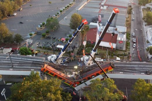 23 passengers tragically die as metro rail overpass collapses in Mexico - The Wall Post